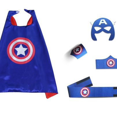 Captain American Cape and Mask Sets For children superhero party favors