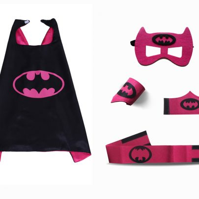 Batman Cape and Mask Sets for girls 5 Pack Red