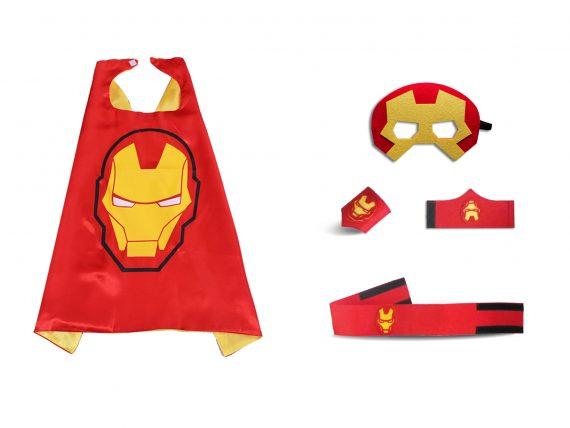 ironman costume child superhero cape felt mask sets