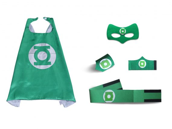 green lantern cape and mask halloween costume for kids