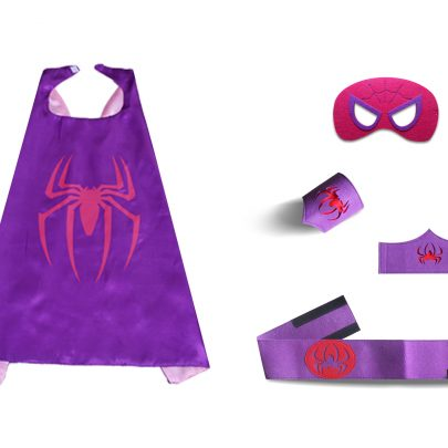Spider Cape And Mask Sets For childrens Purple