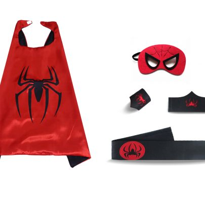 red spiderman cape and mask for kids