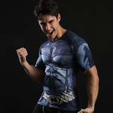 Super Heros Batman Compression Shirt Short sleeve 01