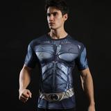 batman workout shirt short sleeve compression shirt