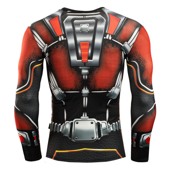 Long Sleeve Super Heros Ant Man Compression Shirt 03