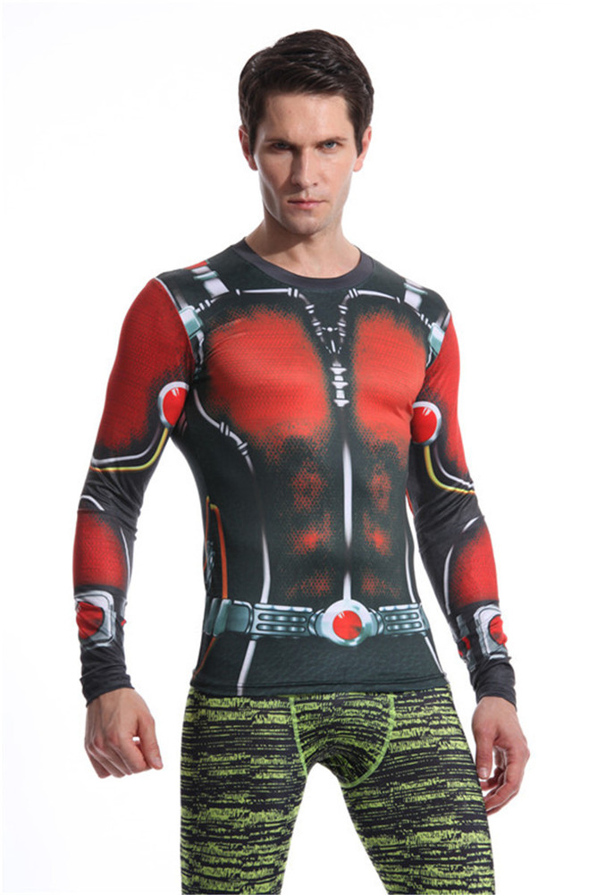 Long Sleeve Super Heros Ant Man Compression Shirt 04