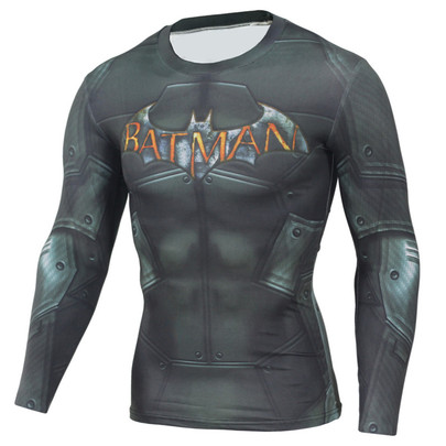 dri fit iron man graphic tee long sleeve compression running shirt crewneck