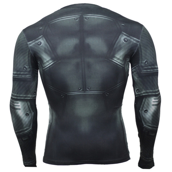 dri fit batman themed halloween costumes long sleeve compression shirt