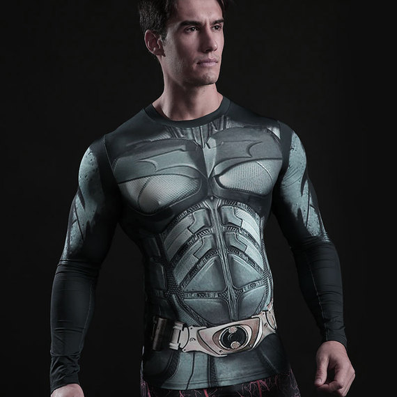Long Sleeve Batman Compression Athletic Shirt 03