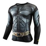 dri fit batman halloween costume long sleeve compression shirt crewneck