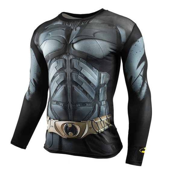 dri fit batman halloween costume long sleeve compression shirt crewneck
