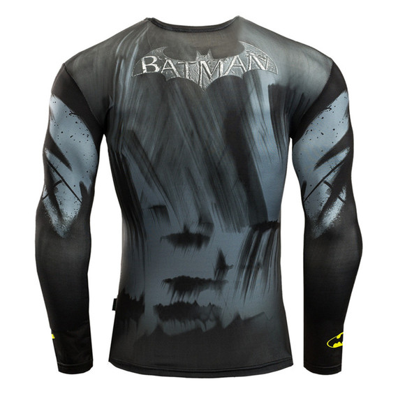 quick dry batman long sleeve compression shirt crewneck