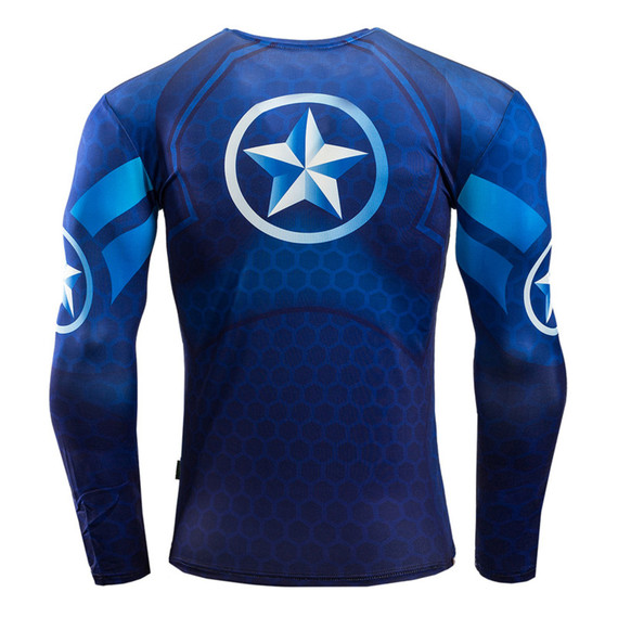 Long Sleeve Captain America Workout Shirt 03