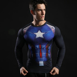 captain america long sleeve compression shirt dri fit super hero t shirt