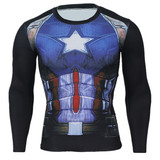 dri fit captain america long sleeve compression shirt