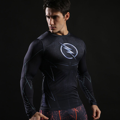 Long Sleeve Flash Compression shirt black