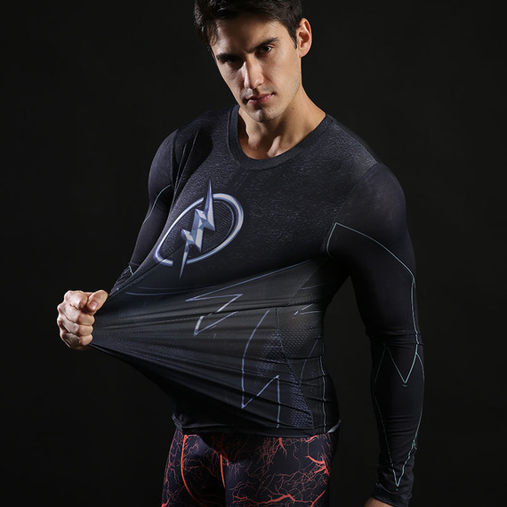 dri-fit flash running shirt long sleeve compression shirt black