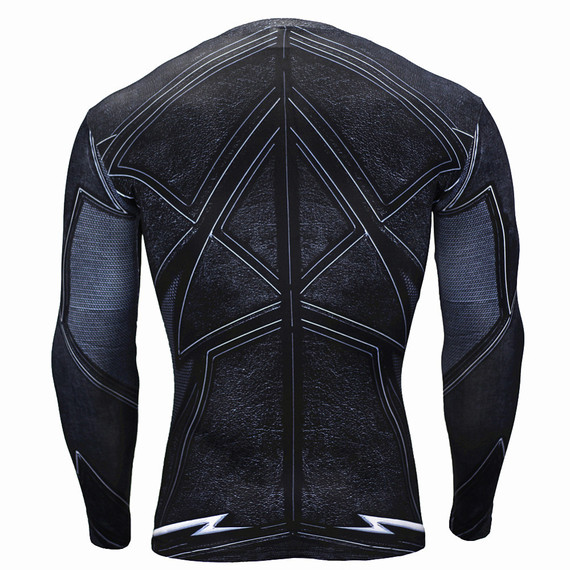 the flash sports shirt long sleeve compression shirt black