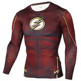the flash dri fit compression shirt long sleeve red