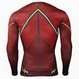 Long Sleeve flash compression shirt dri fit red