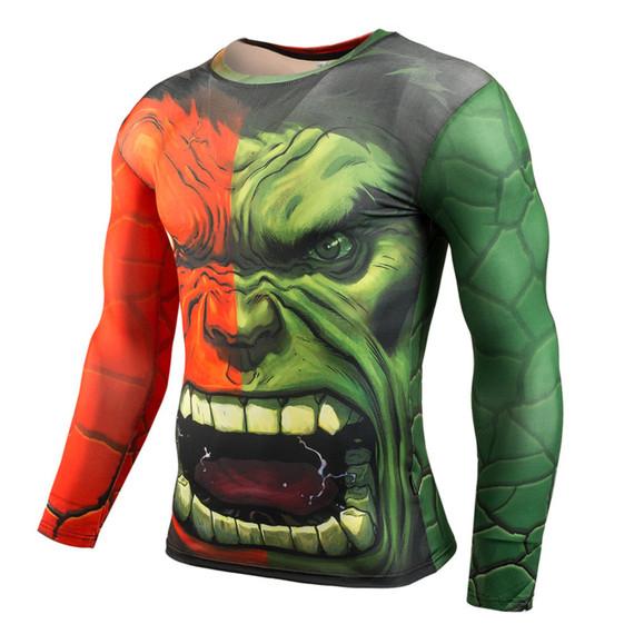 Long Sleeve Incredible Hulk Compression Shirt Front