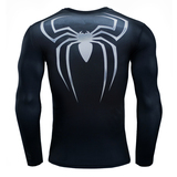 spiderman halloween costume long sleeve superhero compression shirt black