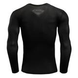 Black Superman Compression Shirt Long Sleeve 04