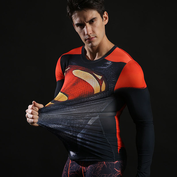 Super Heros Exercise Shirt Halloween Costumes 04
