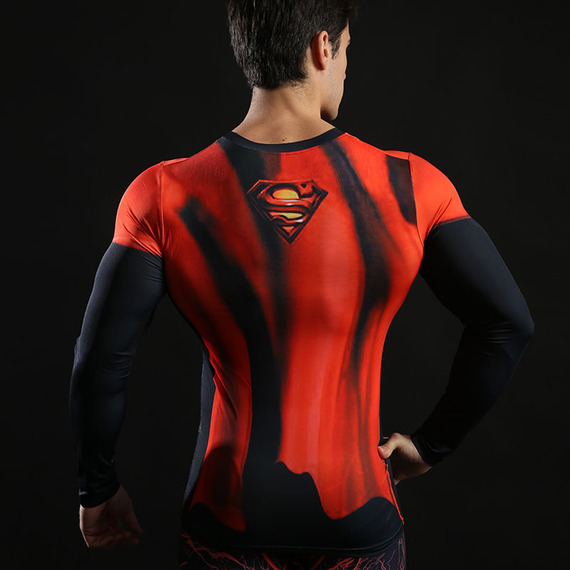 Super Heros Exercise Shirt Halloween Costumes 05