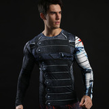 Dri Fit Winter Soldier Compression Shirt Long Sleeve Supher Hero T Shirt