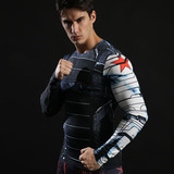 captain america winter soldier tee shirt dri fit long sleeve compression shirt