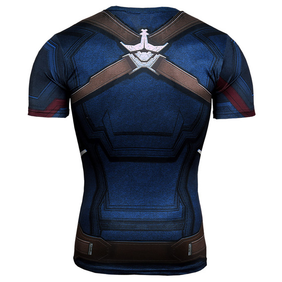 Dri-fit Captain America Compression Shirt Short Sleeve avengers infinity war
