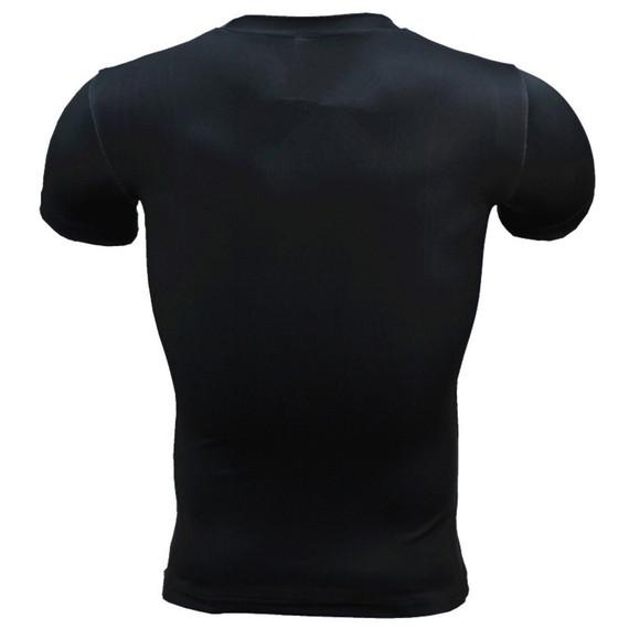 Short Sleeve Punisher Compression Shirt Blue Workouts Shirt