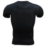 Quick Dry Punisher Compression Shirt Short Sleeve Skull Graphic Tee Crewneck