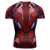 dri fit red iron man shirt short sleeve compression shirt