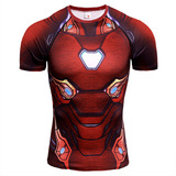 Dri-Fit Ironman Compression Shirt Short Sleeve Athletic Tee Red - Avengers Infinity War