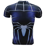 dri fit spiderman halloween outfit short sleeve compression shirt