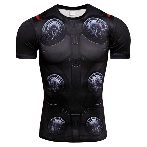 Dri-Fit Thor Compression Shirt Short Sleeve Front