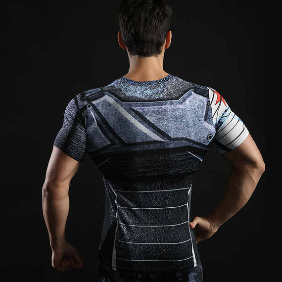 dri fit winter soldier compression shirt short sleeve