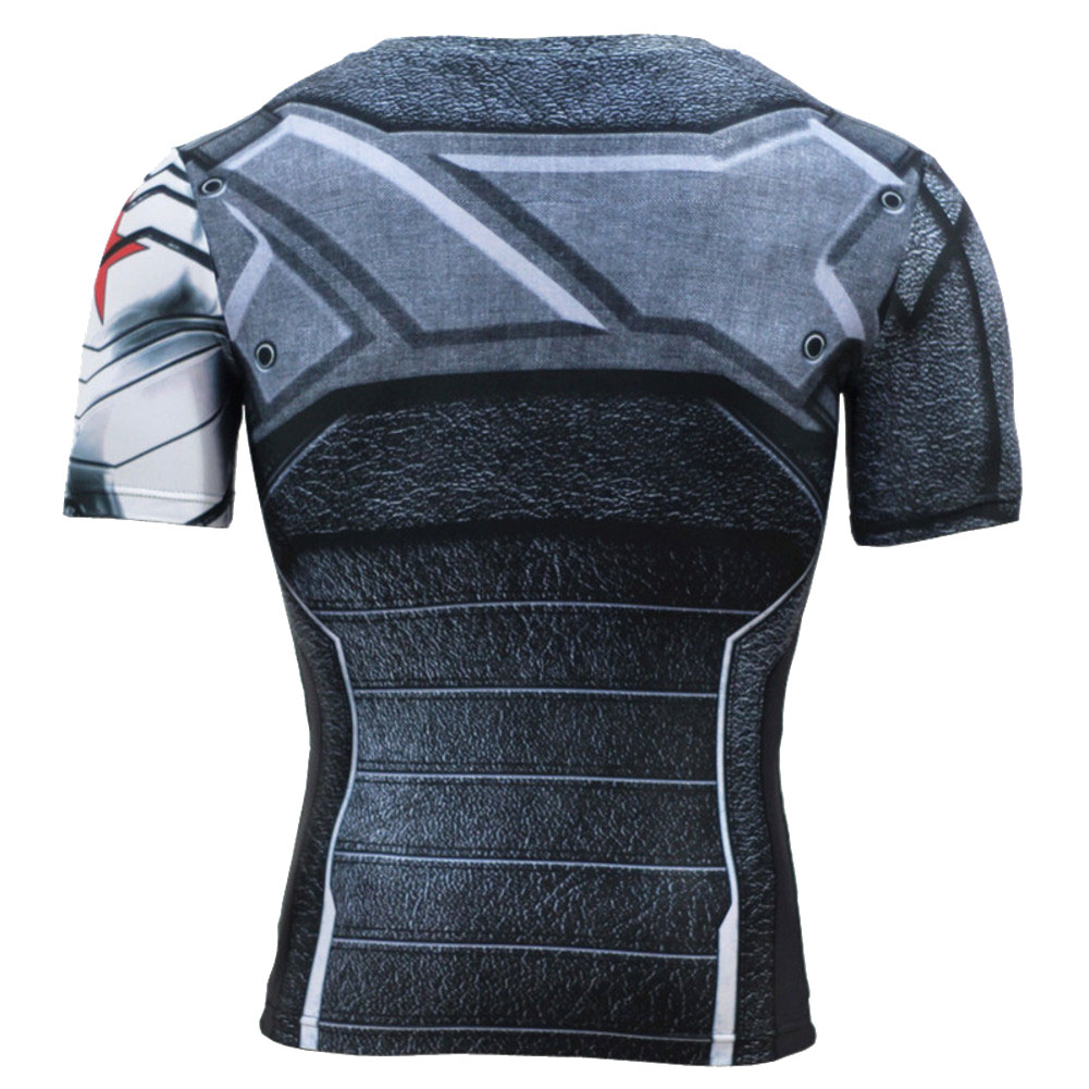 Dri-fit Superhero Winter Soldier Compression Shirt Short Sleeve ... d10f55335