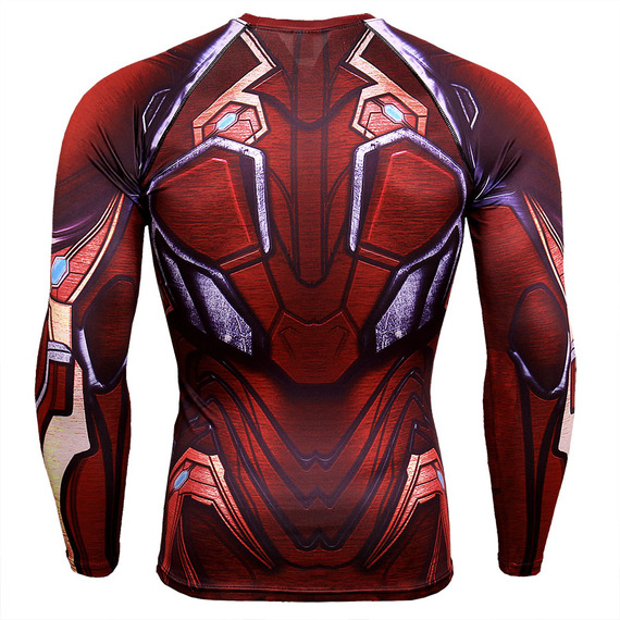 captain america workout shirt long sleeve compression t shirt red