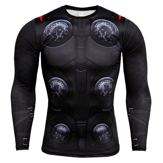 thor hammer t shirt long sleeve compression workouts shirt