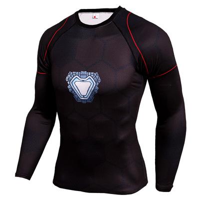 White iron man compression shirt long sleeve