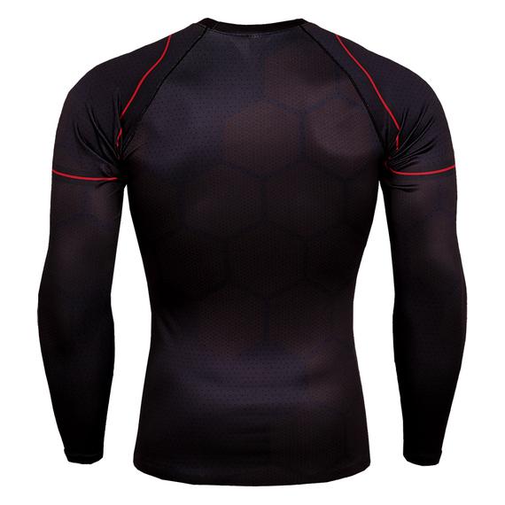 White iron man compression tops long sleeve superhero t shirt