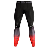 weightlifting compression pants black red