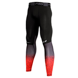 compression exercise pants mens black red