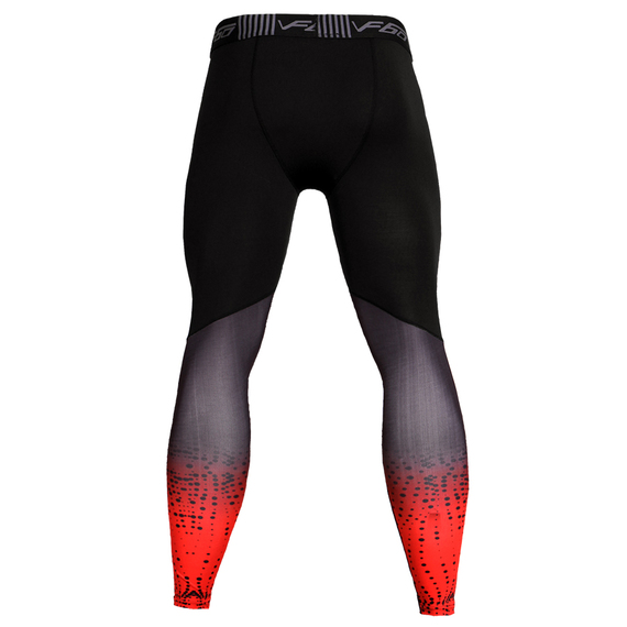 mens athletic compression pants black red