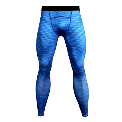 blue compression workout pants for mens