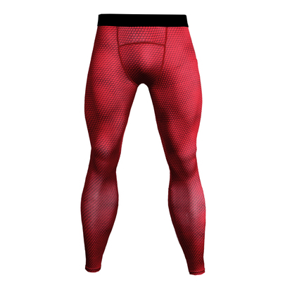 mens red compression yoga legging
