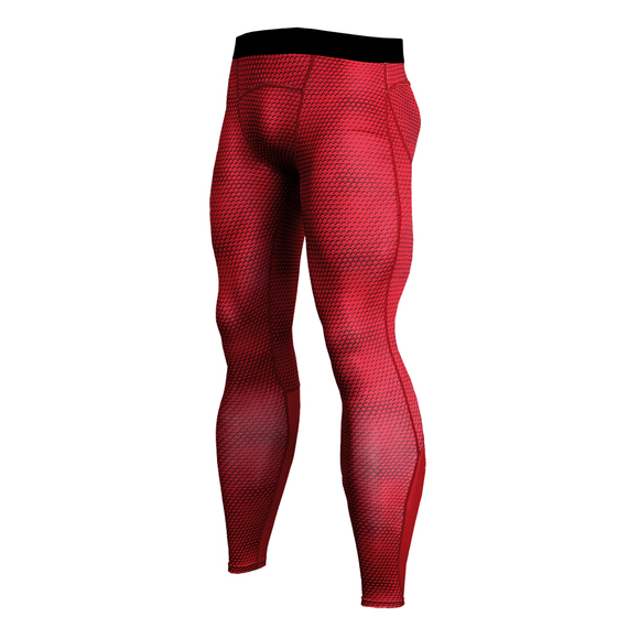 mens red compression pants
